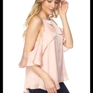 Tops - Cold Shoulder Ruffle Top